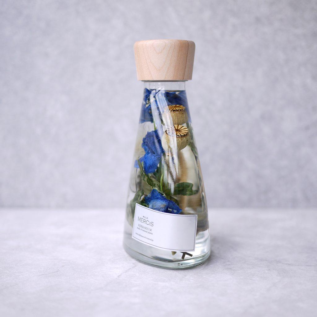 ミルメルシー ハーバリウム『BOTANICAL』デルフィニウム ボトル