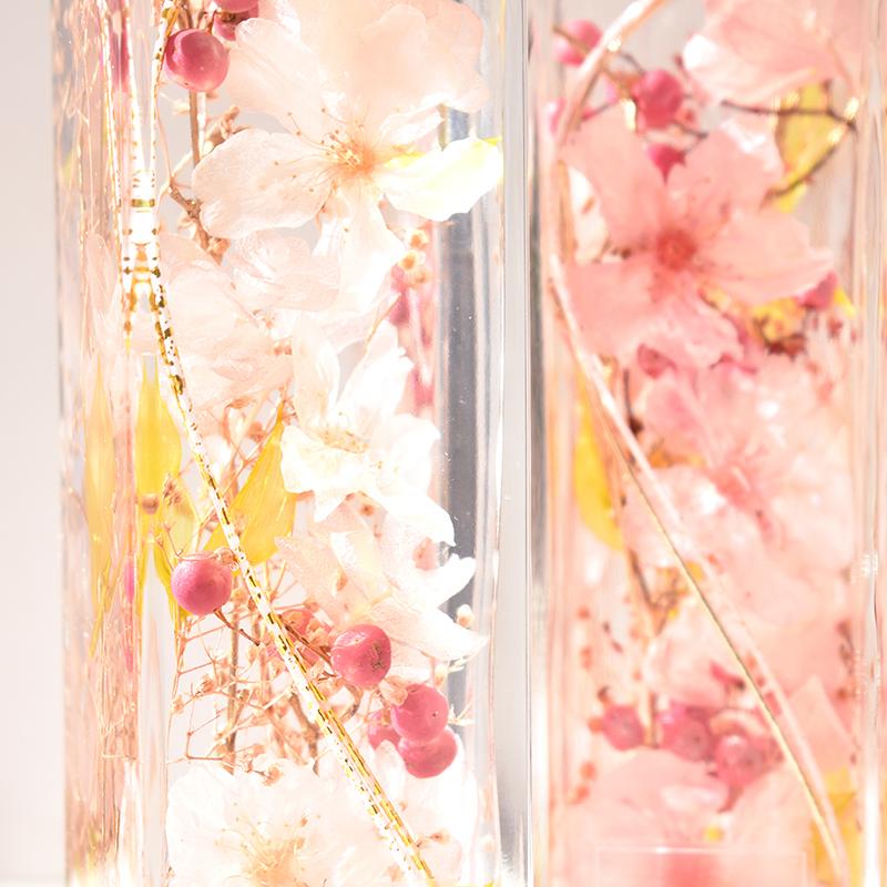 MiLLE MERCiS(ミルメルシー)おうち花見・本物の桜 【桜ハーバリウム】『MIYABI-雅-』花宴(はなのえん)